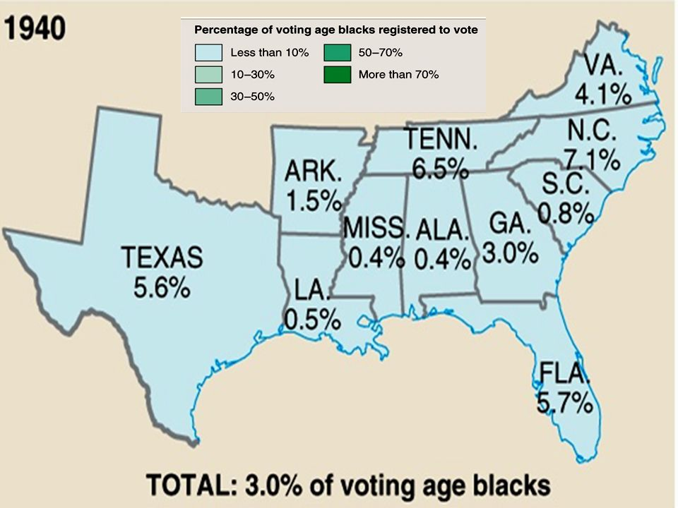 Souths Backlash1 The right to vote was taken away from the Freedmen after Reconstruction