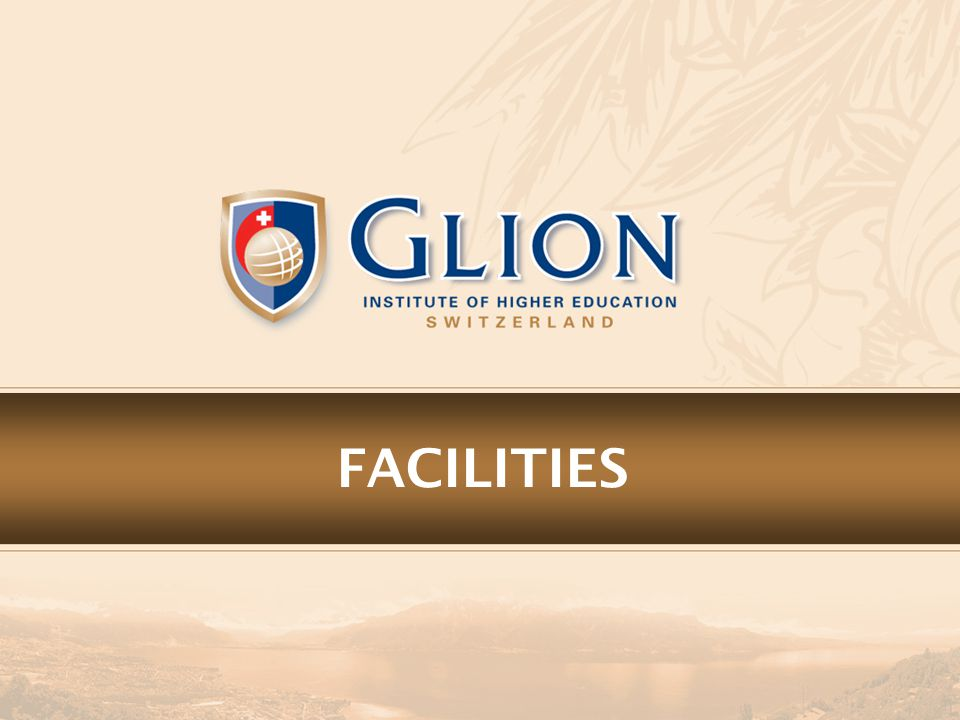 GLION CAMPUS Glion Campus The Residence The main campus building