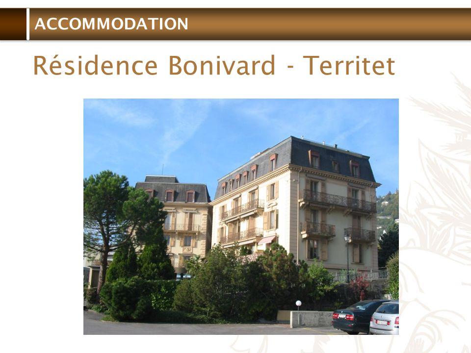 ACCOMMODATION Résidence Bonivard - Territet