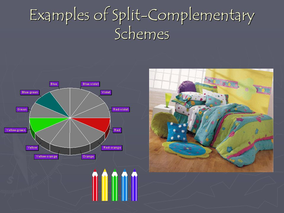 Examples of Split-Complementary Schemes
