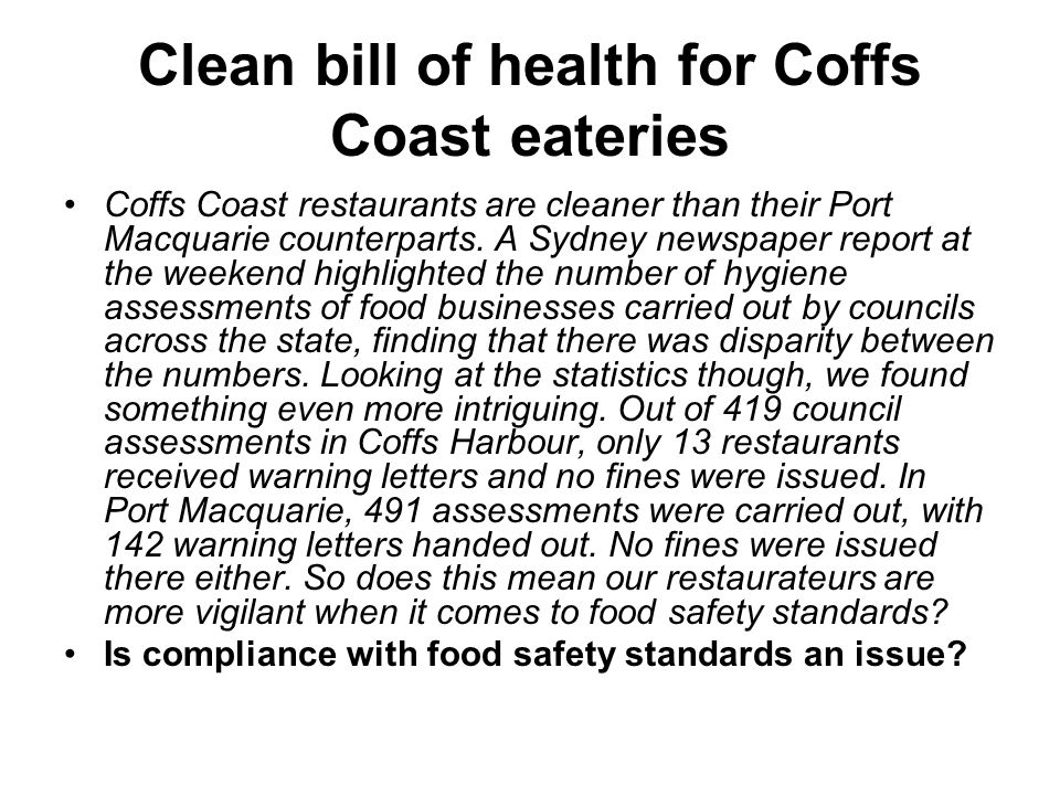 Dining hot spot reports rise in inspections For decades, Leichhardt s cafes and restaurants were renowned among food safety inspectors as places where food hygiene standards were seldom enforced, with council records showing just a handful of fines imposed in Little Italy in the past five years.