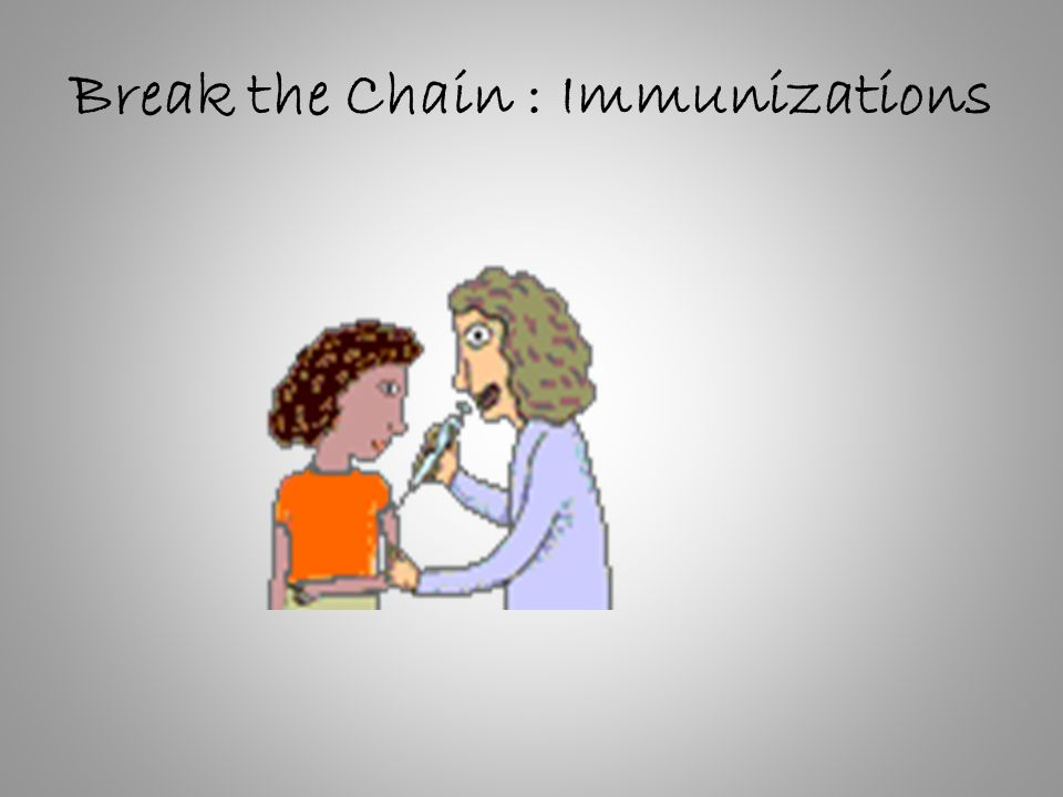 Break the Chain : Immunizations