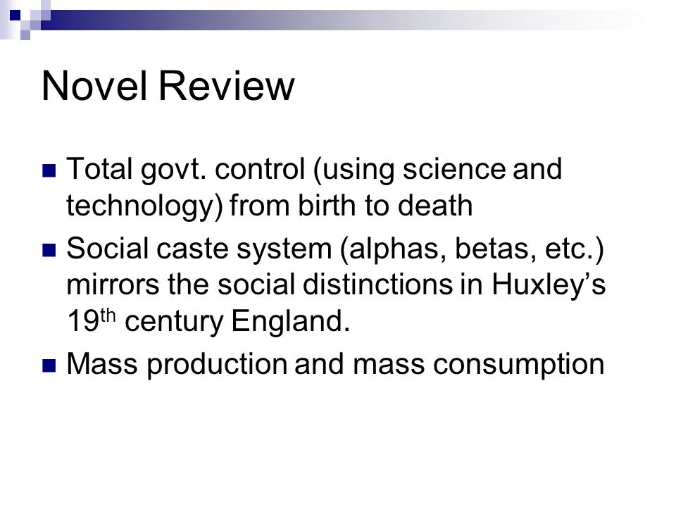 Novel Review Total govt.
