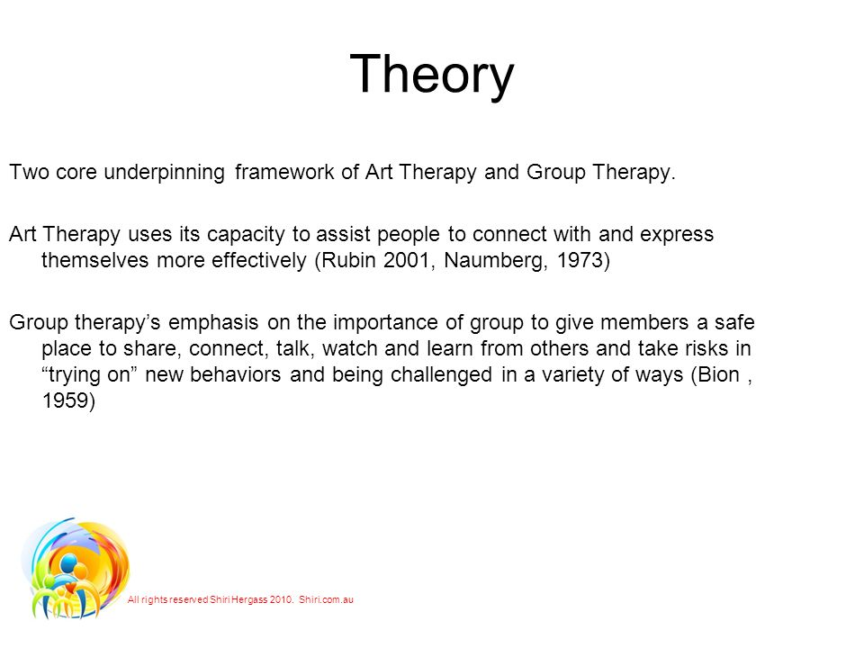 Theory Two core underpinning framework of Art Therapy and Group Therapy.