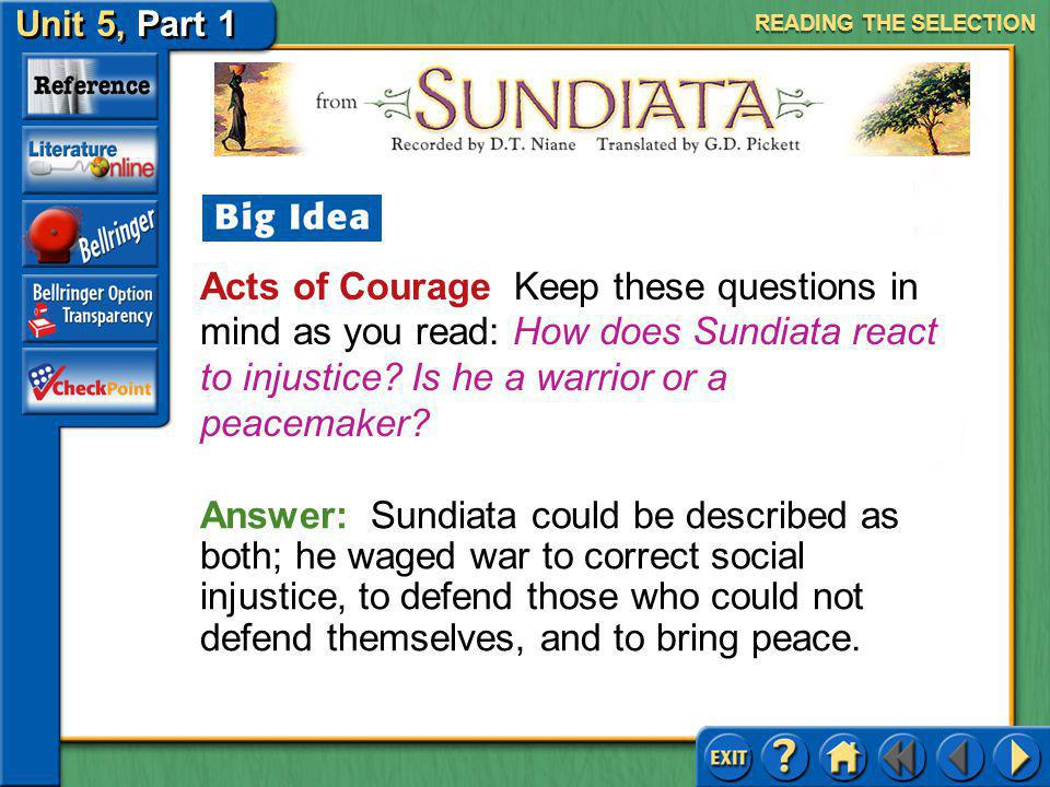 Unit 5, Part 1 Sundiata