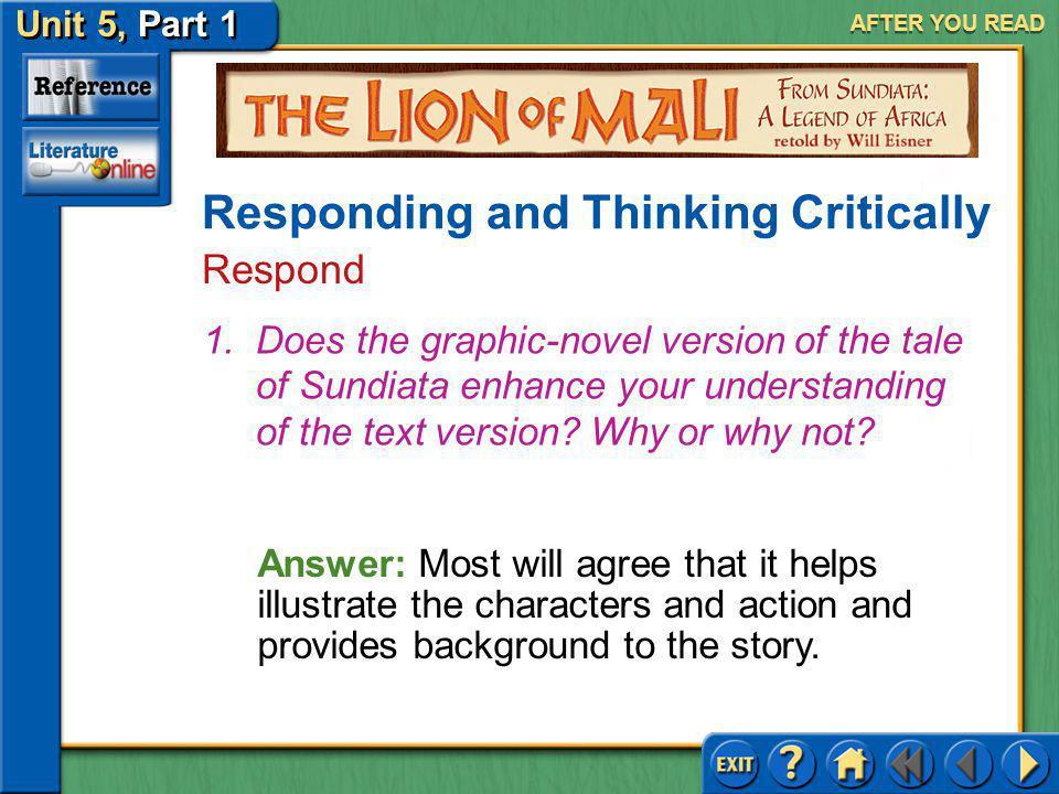 Unit 5, Part 1 Visual Perspective: The Lion Mali