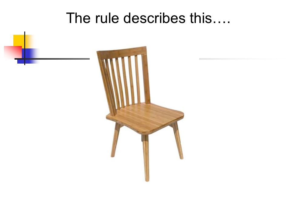 The rule describes this….