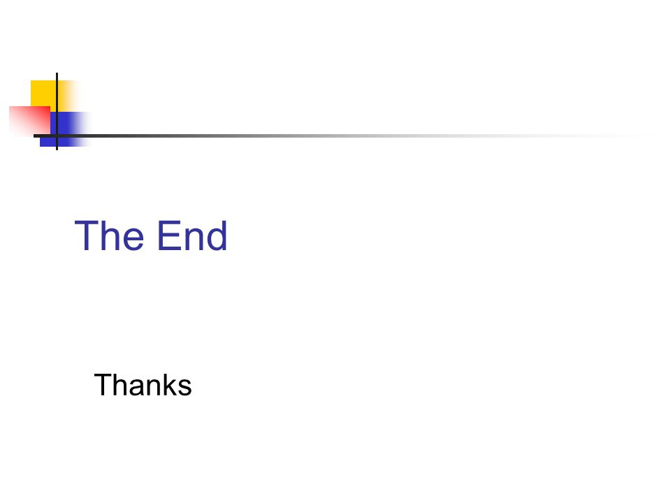 The End Thanks