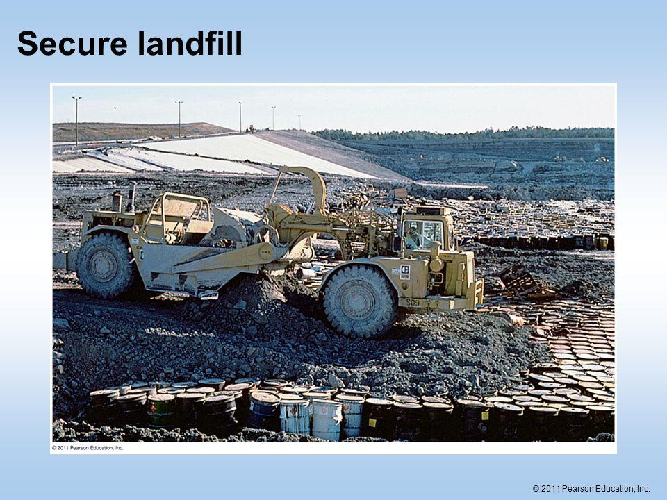 © 2011 Pearson Education, Inc. Secure landfill