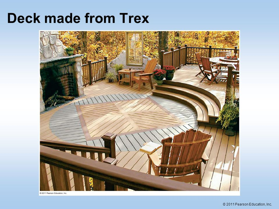 © 2011 Pearson Education, Inc. Deck made from Trex