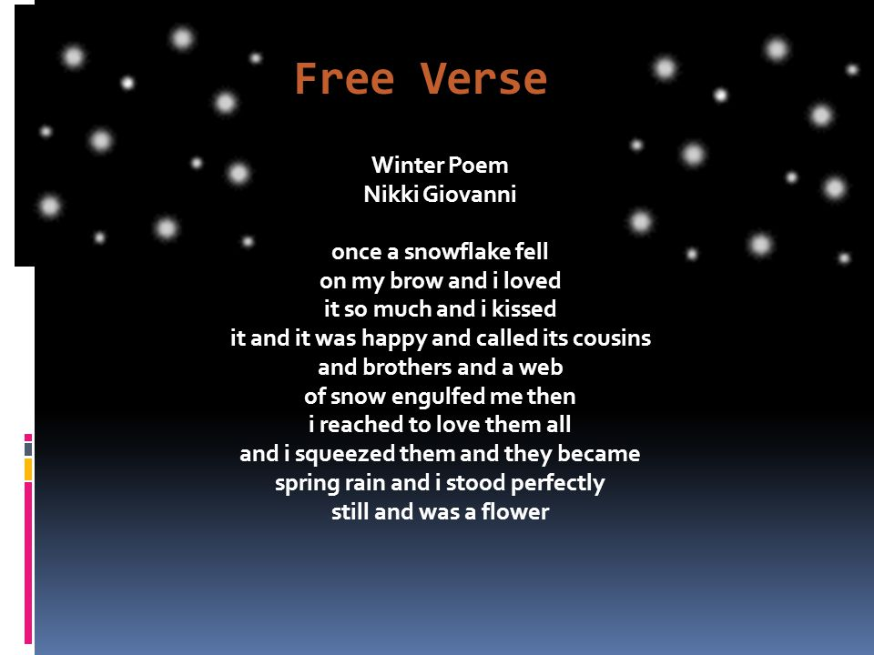 Free Verse Poems - Info