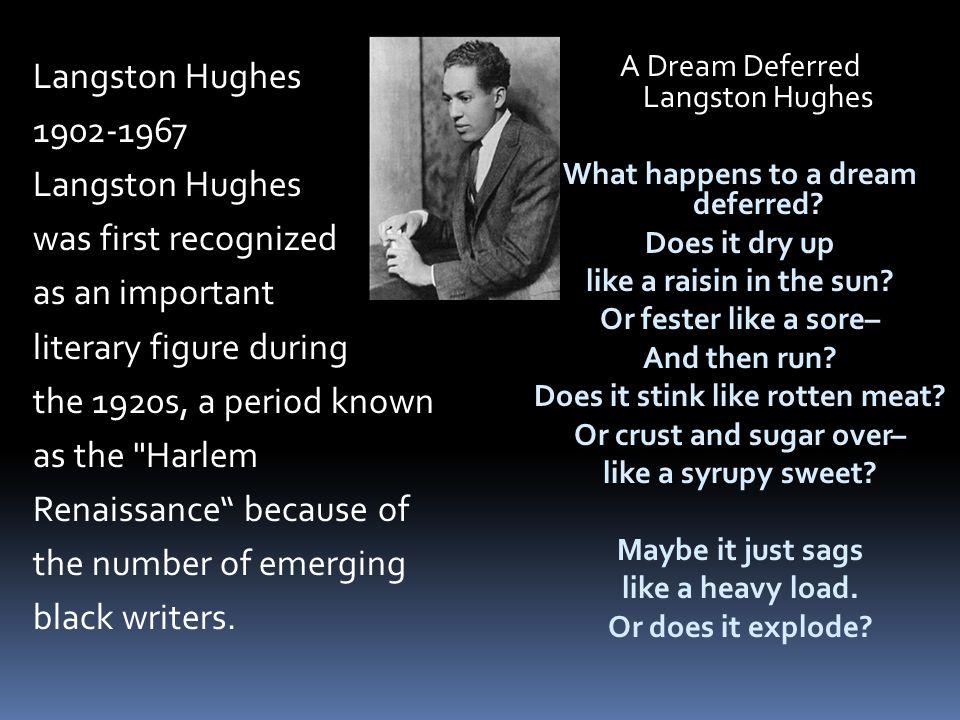 essay by langston hughes A dream deferred essaysa dream deferred by langston hughes in many of hughes.
