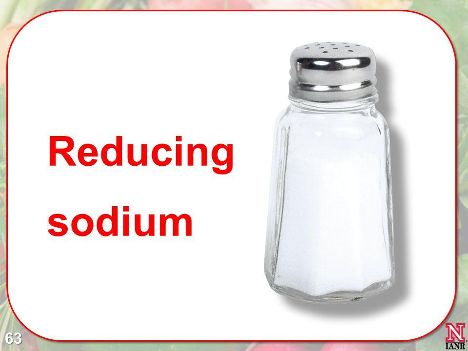 Reducing sodium 63