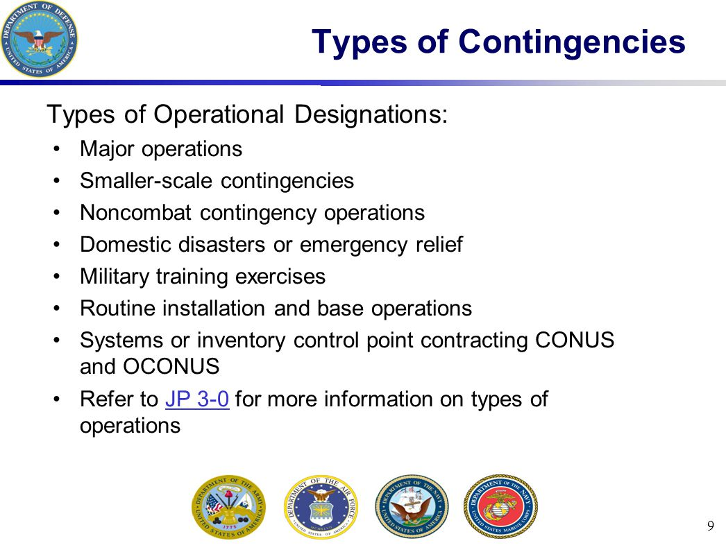 50 DoD Combat Support Agencies Defense Contract Management Agency (DCMA): Responsible for major DoD acquisition programs (systems, supplies, and services) are delivered on time, within projected cost or price, and meet performance requirements During contingency operations, provides contingency contract administration services (CCAS) for delegated external support contracts JP 4-10 - Appendix D, Defense Contract Management Agency Contingency Functions and CapabilitiesJP 4-10 Defense Contract Audit Agency (DCAA): Responsible for performing all DoD contract audits Provides accounting and financial advisory services
