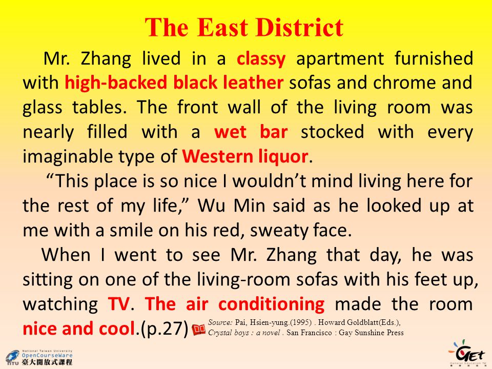 The East District Mr.