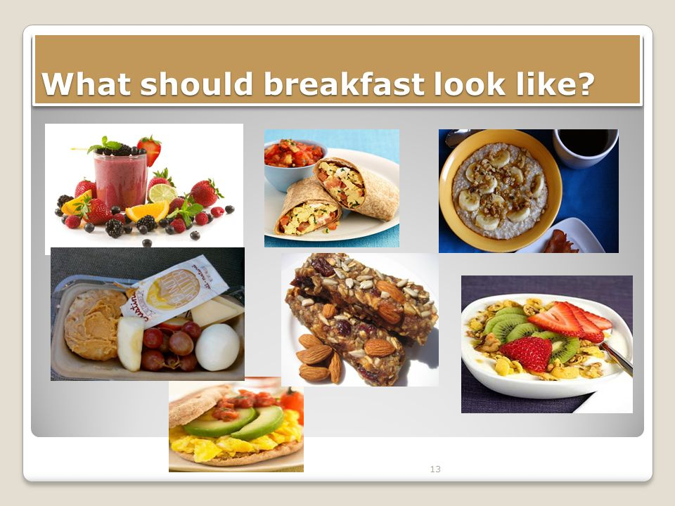 What should breakfast look like 13