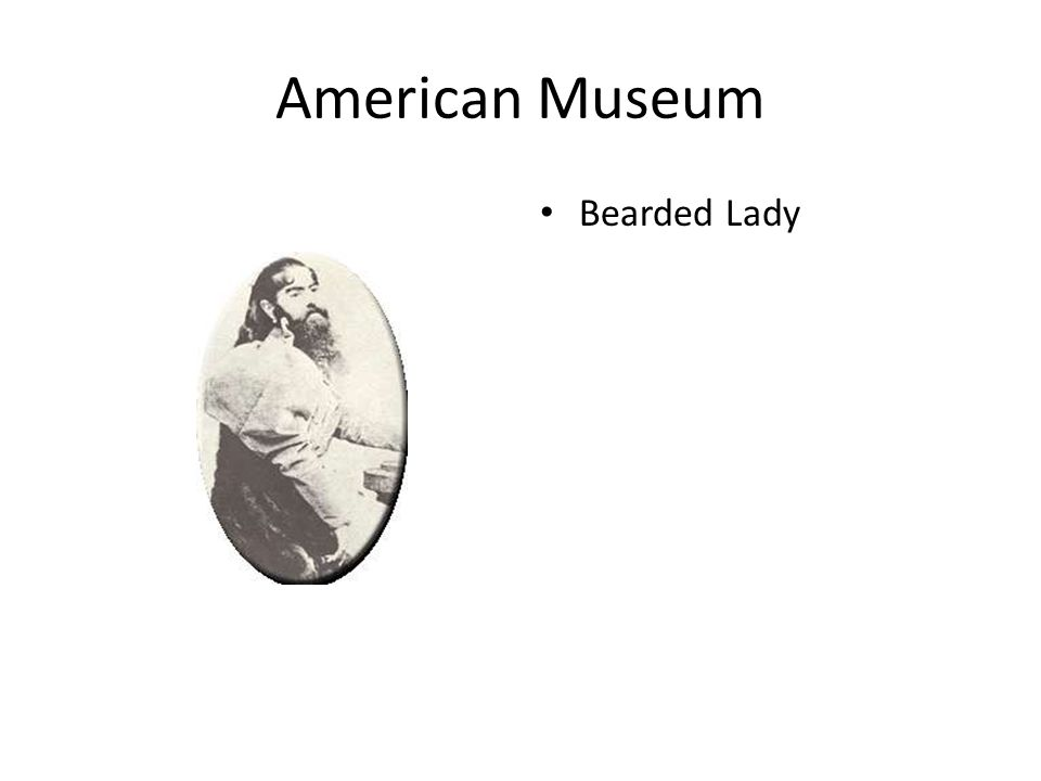 American Museum Bearded Lady