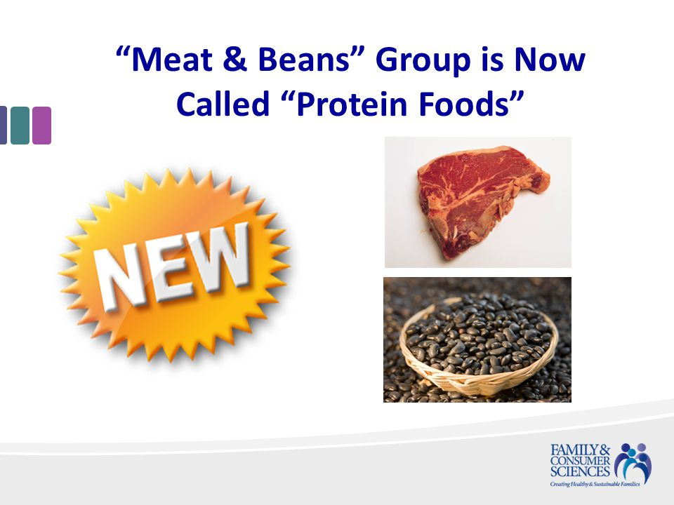 Meat & Beans Group is Now Called Protein Foods