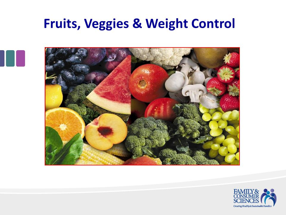 Fruits, Veggies & Weight Control