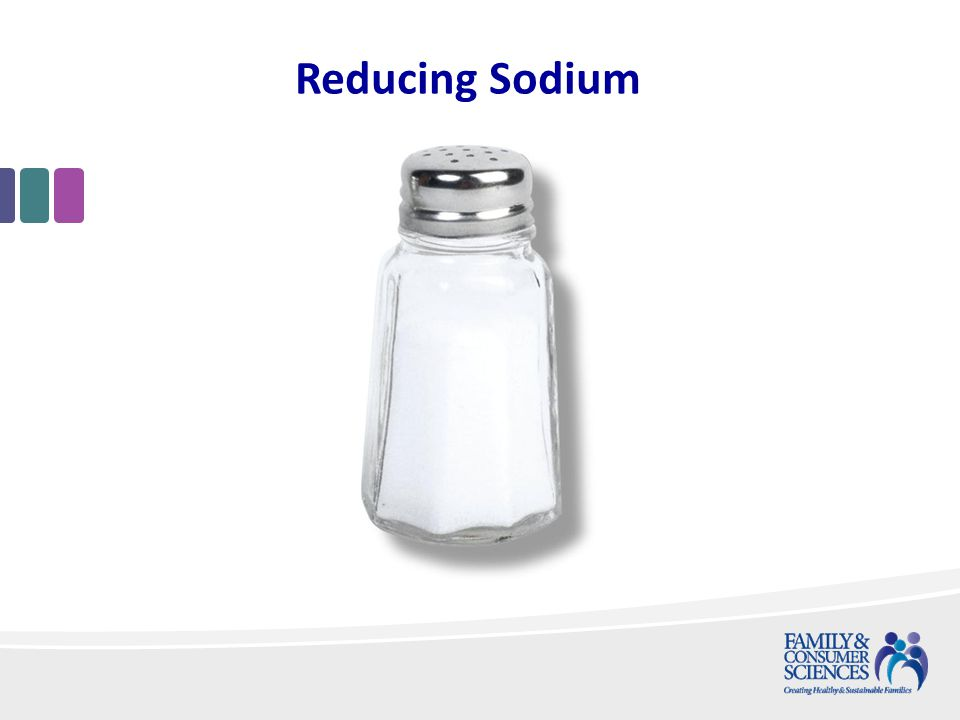 Reducing Sodium