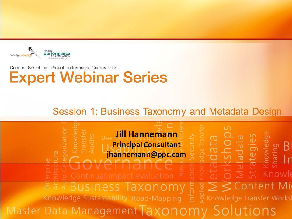 Jill Hannemann Principal Consultant jhannemann@ppc.com