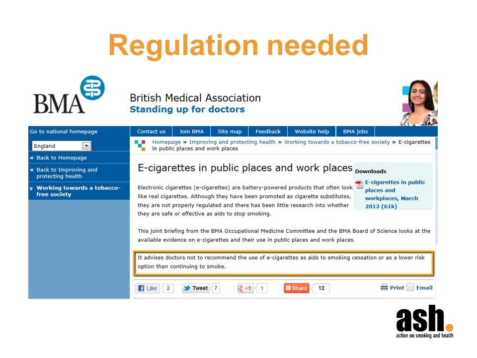 Regulation needed