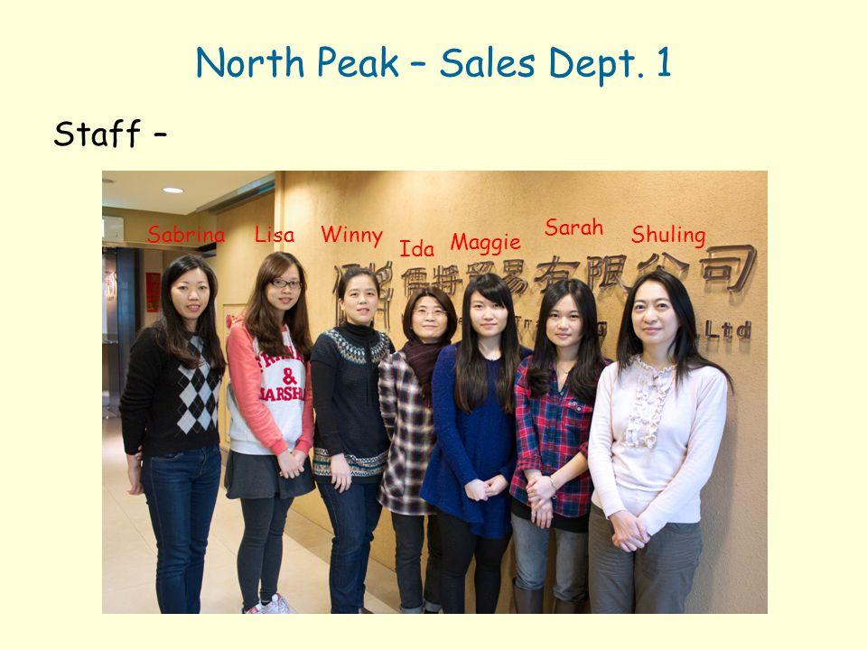 Yes Promotion – Factory 2 Staff – Da-Ping Amanda Jessica Mr. Hsu Brett Sandy Olive Nancy Mike