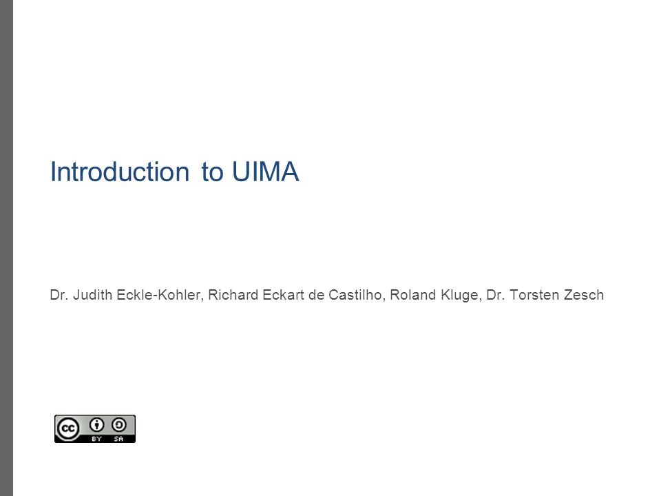 A UIMA type system specifies the type of data that can be manipulated by annotator components.