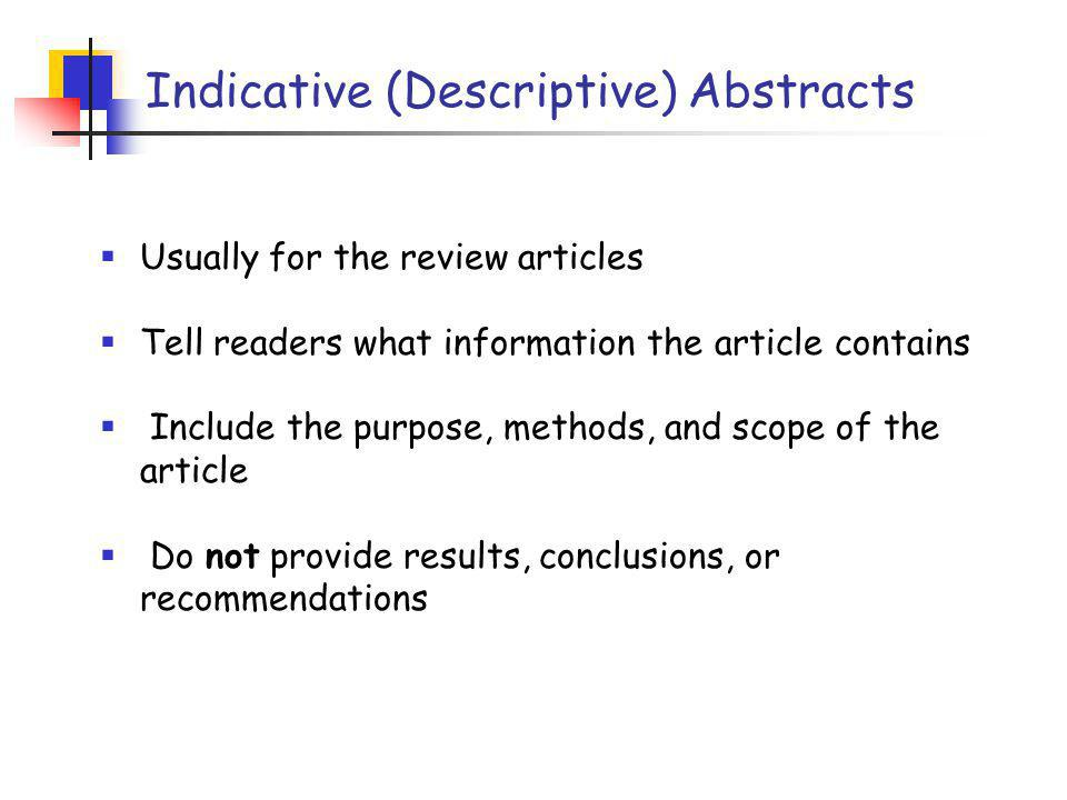 A Example of the Conference Abstract