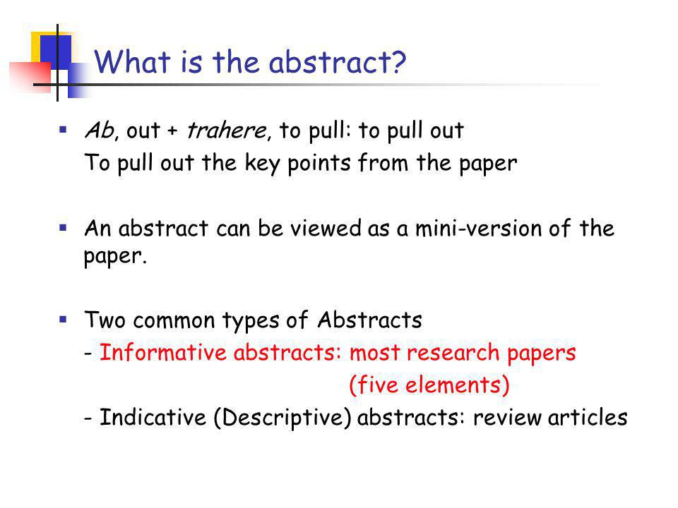 Example of an informative abstract