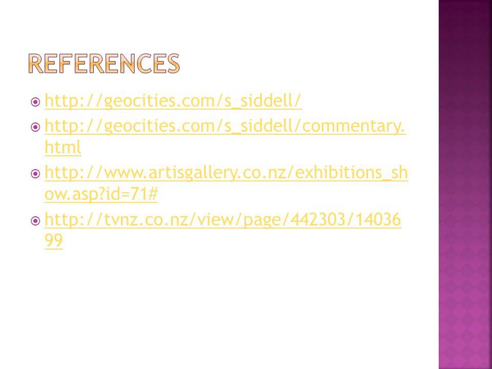 http://geocities.com/s_siddell/ http://geocities.com/s_siddell/commentary. html http://geocities.com/s_siddell/commentary. html http://www.artisgaller
