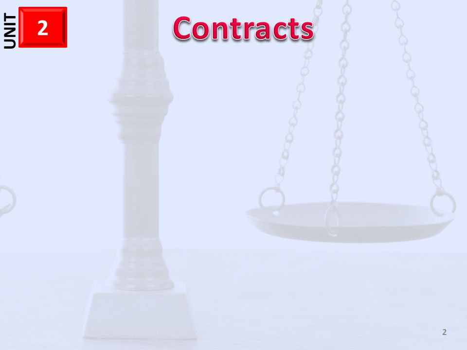 1 CHAPTER 5 13 Reviewing What You Learned – What are the elements of a contract.