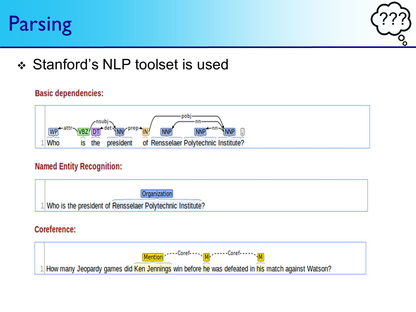 ??? Parsing Stanfords NLP toolset is used