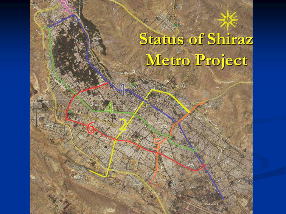 Shiraz Metro Project Lines
