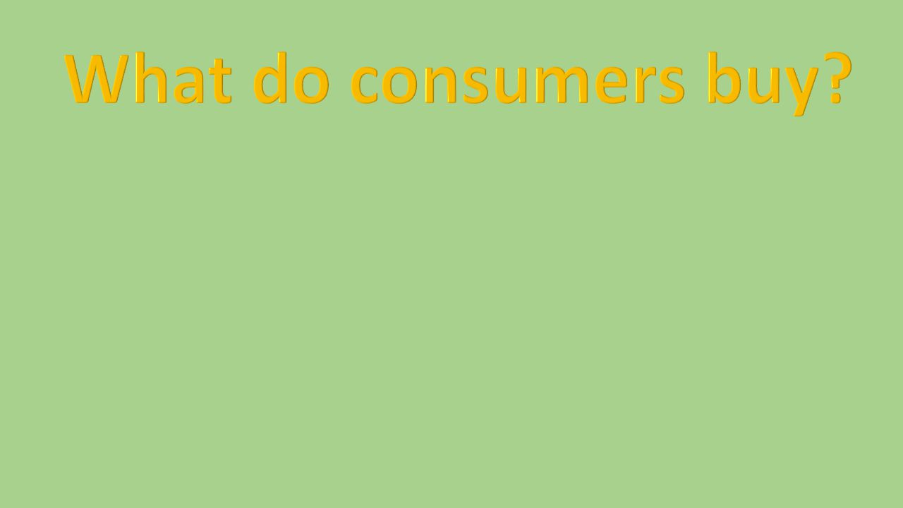 A persons role as a consumer depends on his or her ability to consume.