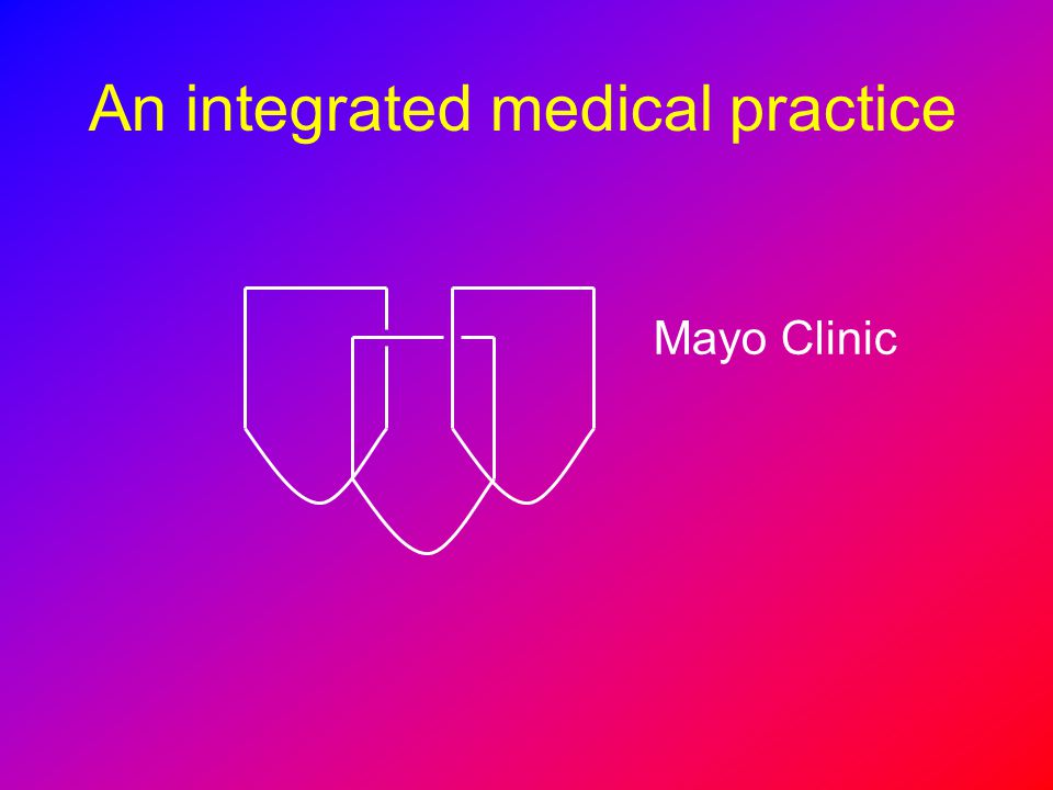 An integrated medical practice Mayo Clinic