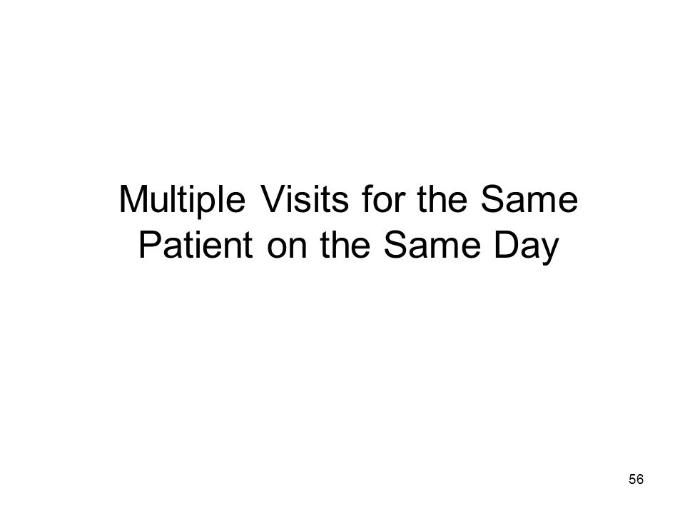 56 Multiple Visits for the Same Patient on the Same Day