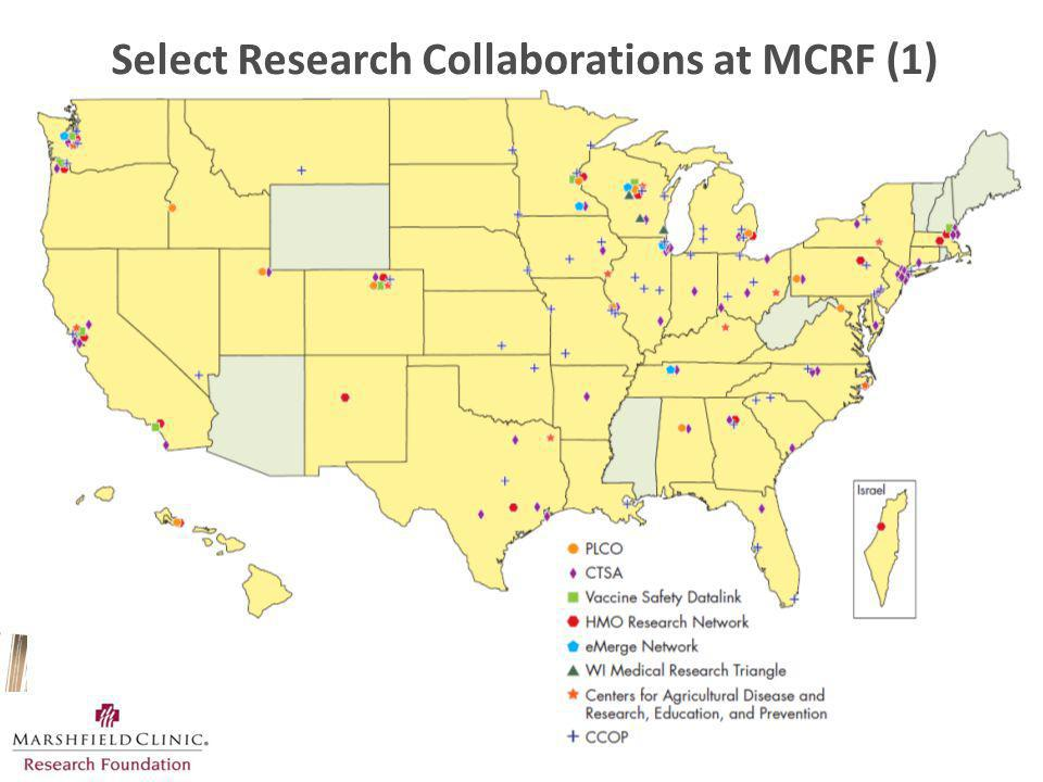 Select Research Collaborations at MCRF (1)