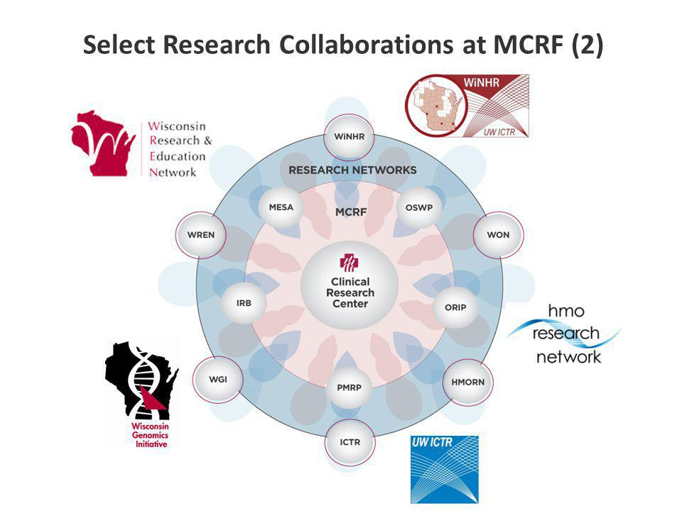 Select Research Collaborations at MCRF (2)