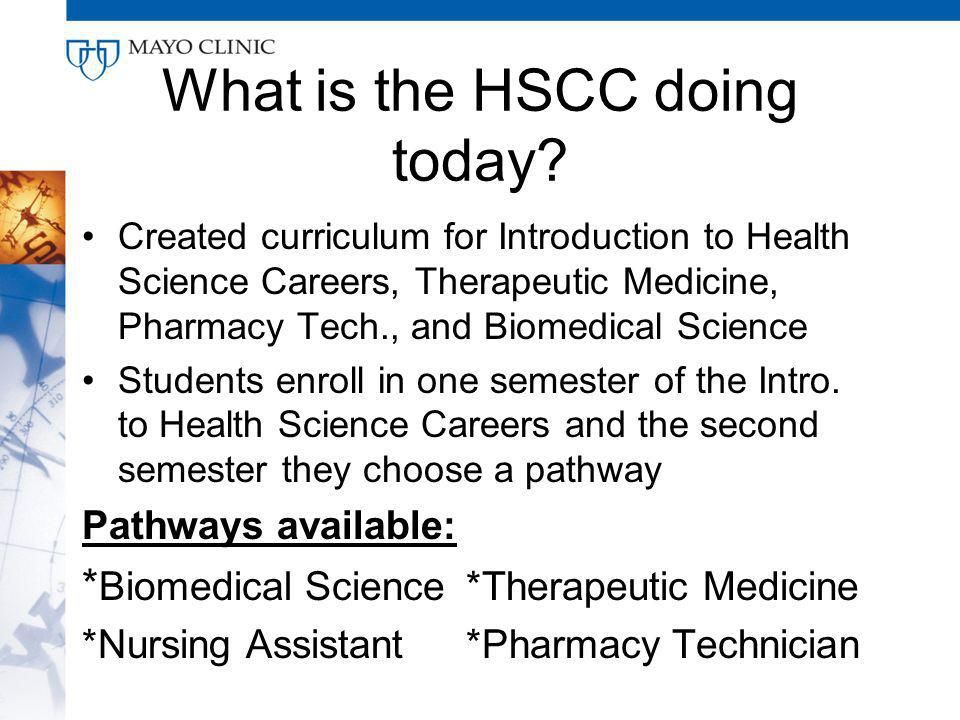 What is the HSCC doing today.