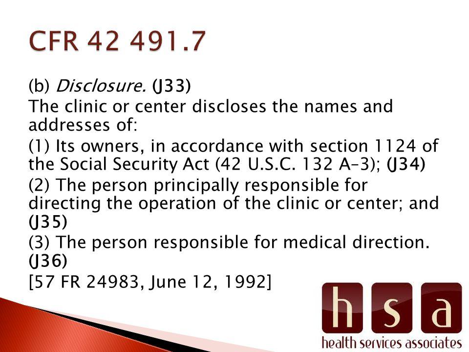 (b) Disclosure.