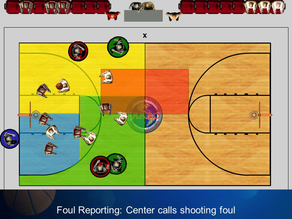 Foul Reporting: Center calls shooting foul