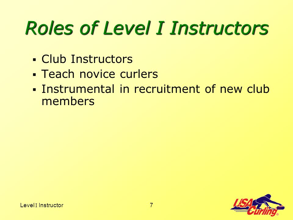 Level I Instructor38 DeliveryGeneral Flat footno lift PDSPress, Draw Back, Slide ABCs of a good delivery Alignment Balance Curl (Grip, Turn & Release) Power generators & delivery cadence
