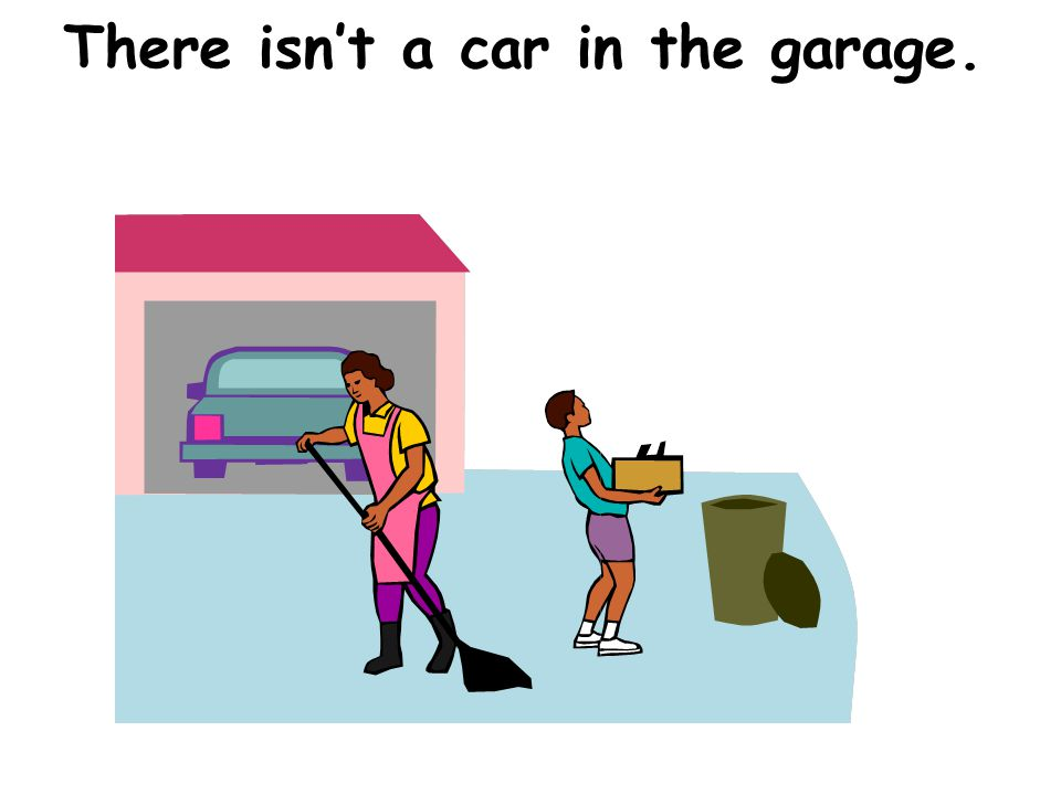 There isnt a car in the garage.