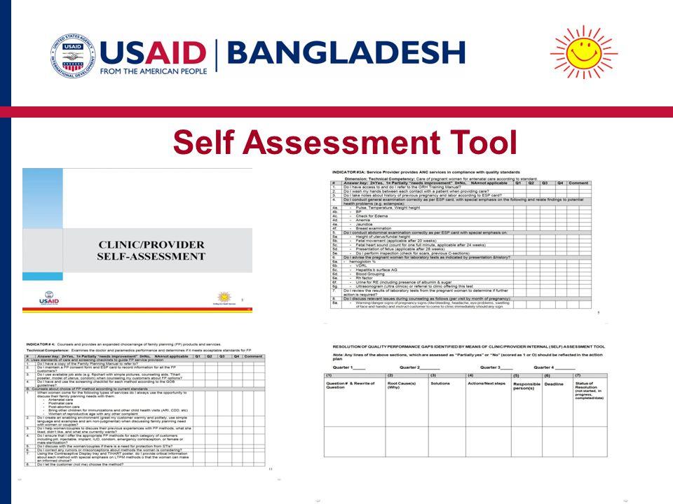 Self Assessment Tool