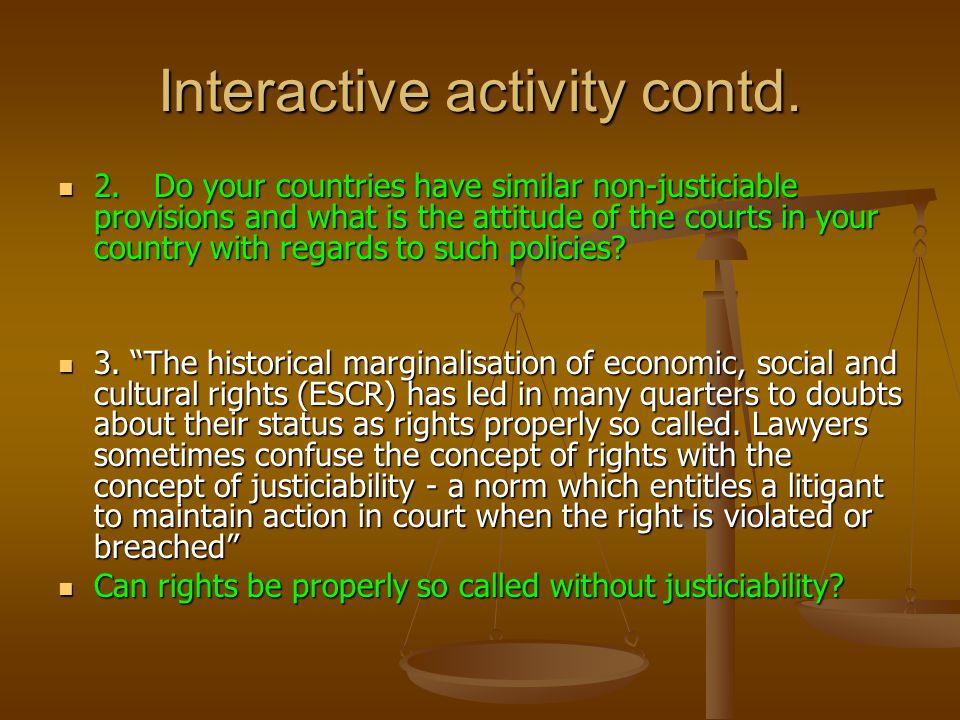 Interactive activity contd.