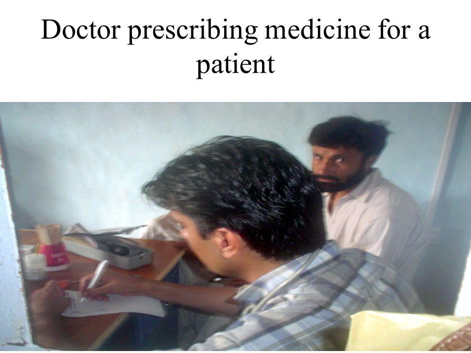 Doctor prescribing medicine for a patient