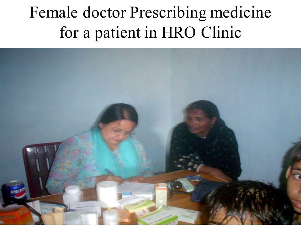 Female doctor Prescribing medicine for a patient in HRO Clinic