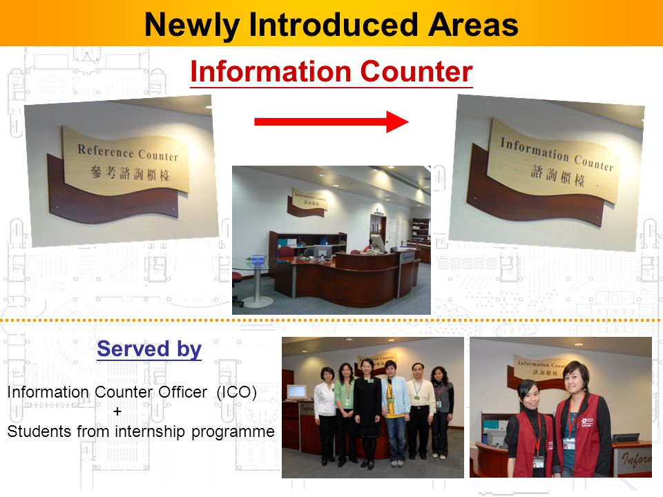 22 Newly Introduced Areas Served by Information Counter Officer (ICO) + Students from internship programme Information Counter