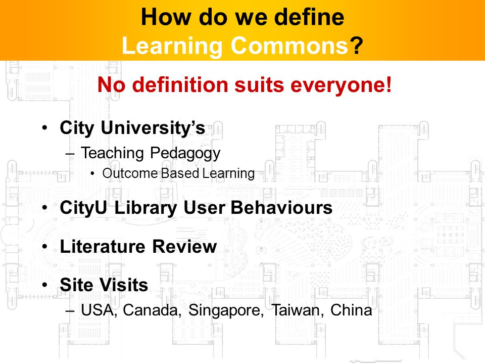 3 How do we define Learning Commons. No definition suits everyone.